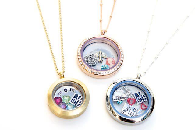 lockets charm custom customized locket gold hearts interlocking birthstone