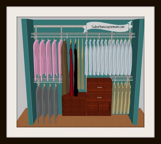 ClosetMaid ShelfTrack Elite Closet Organizer 225 Arv Ends 3 19