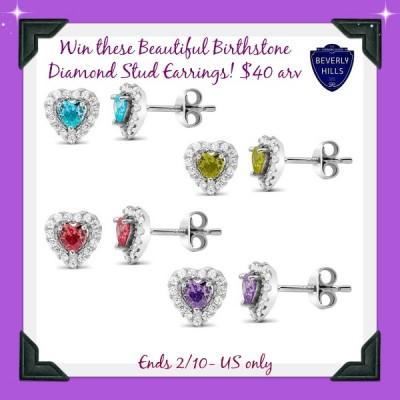 diamond birthstone button