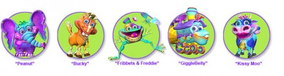 The GiggleBellies Colorful Characters