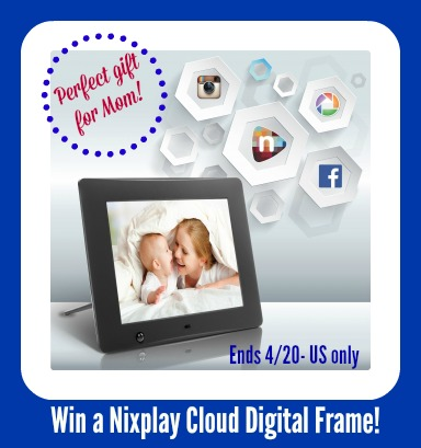 Win a Nixplay Cloud Digital Frame- $149 arv- US only, ends 4/20 -