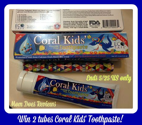coral kids toothpaste button