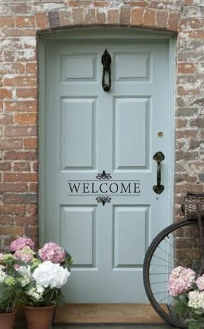 front door welcome & Knock Knock: Four Front Door Designs for Houses to transform the ...