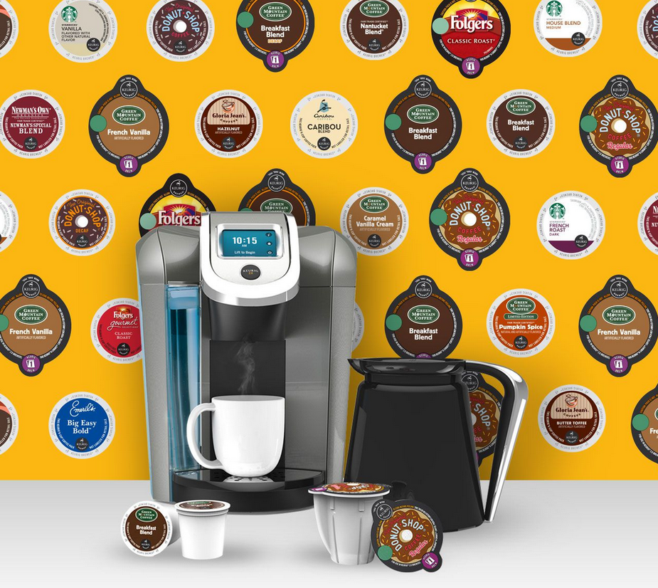 keurig. with pods
