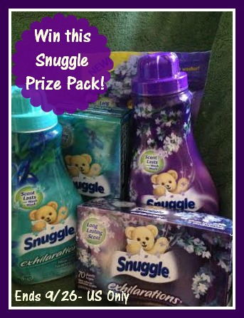 Snuggle Bear & Prize Pack Giveaway