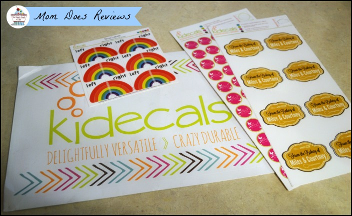 Kidecals Labels | Mom Does Reviews
