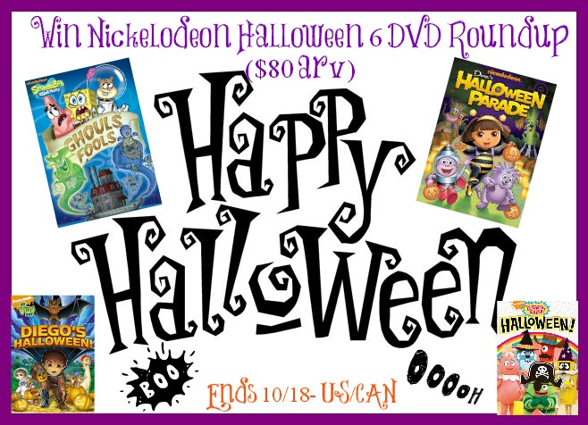 Nickolodean Halloween DVD #Giveaway (6 DVDS)- US & CAN- ends 10/18 -