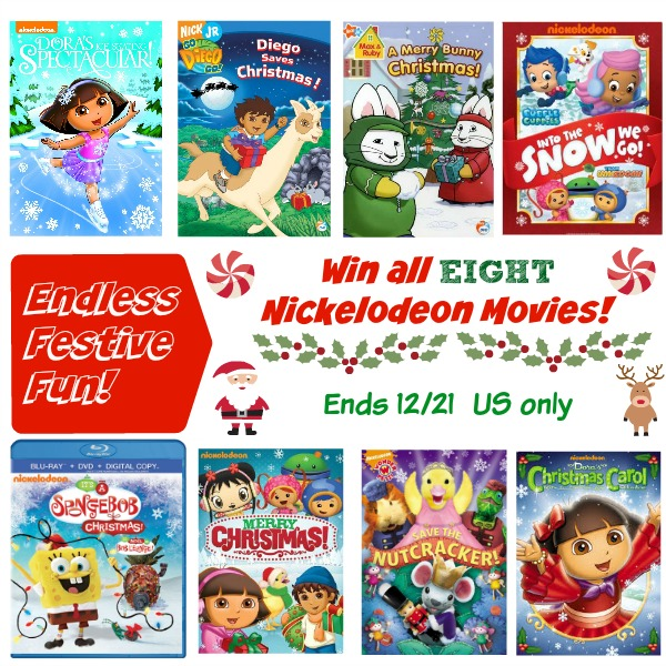 win 8 nickelodeon christmas dvds ends 12 21 us only. Black Bedroom Furniture Sets. Home Design Ideas