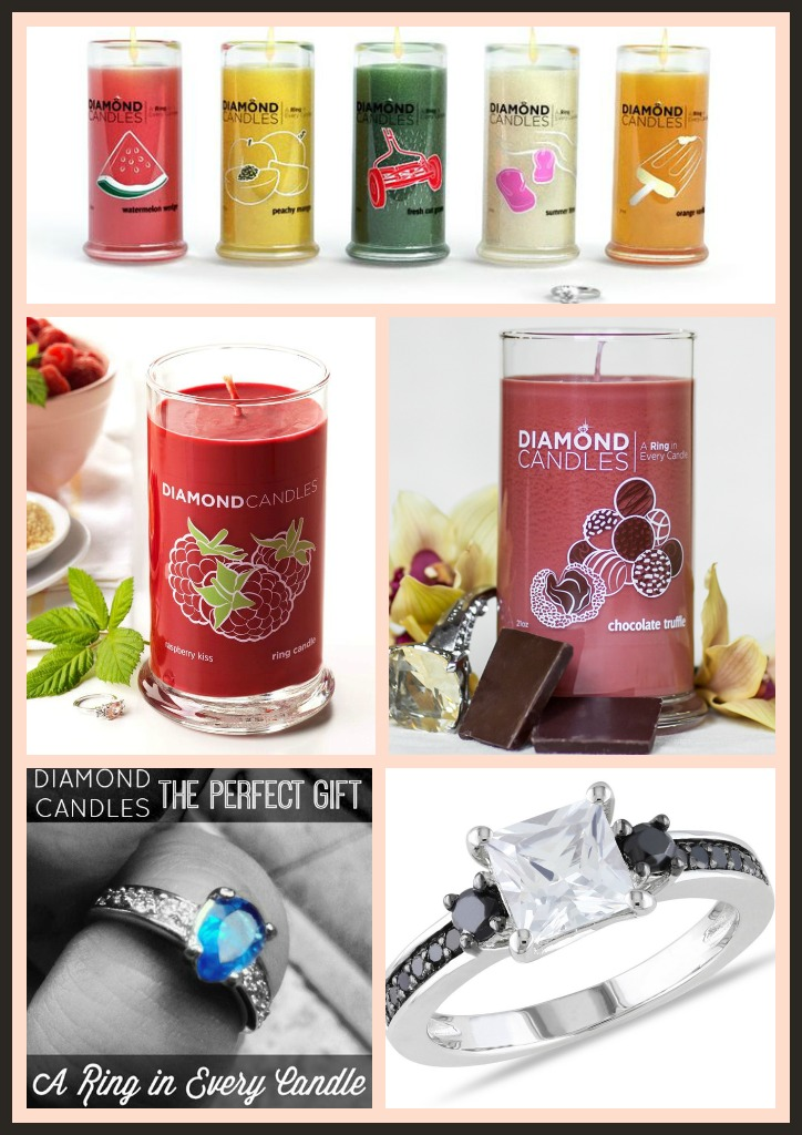 diamond candle collage