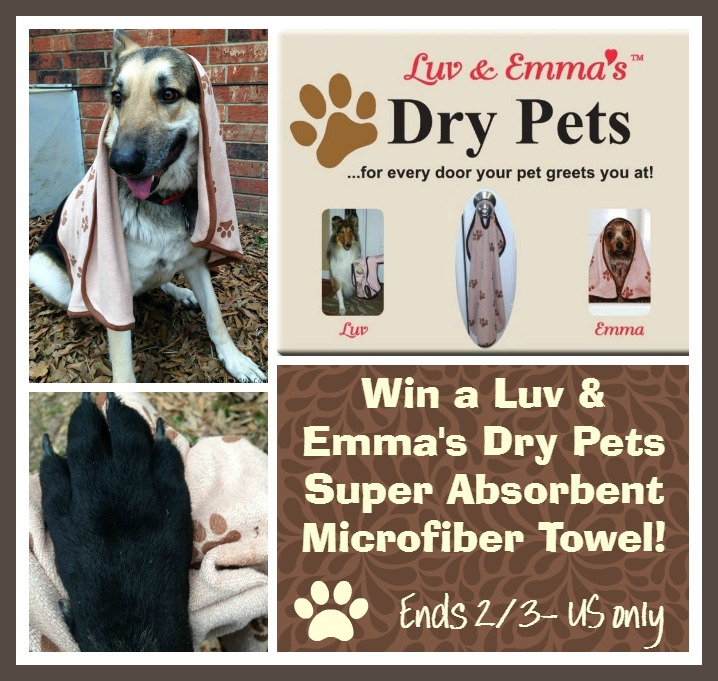luv and emmas dry pets towel giveaway