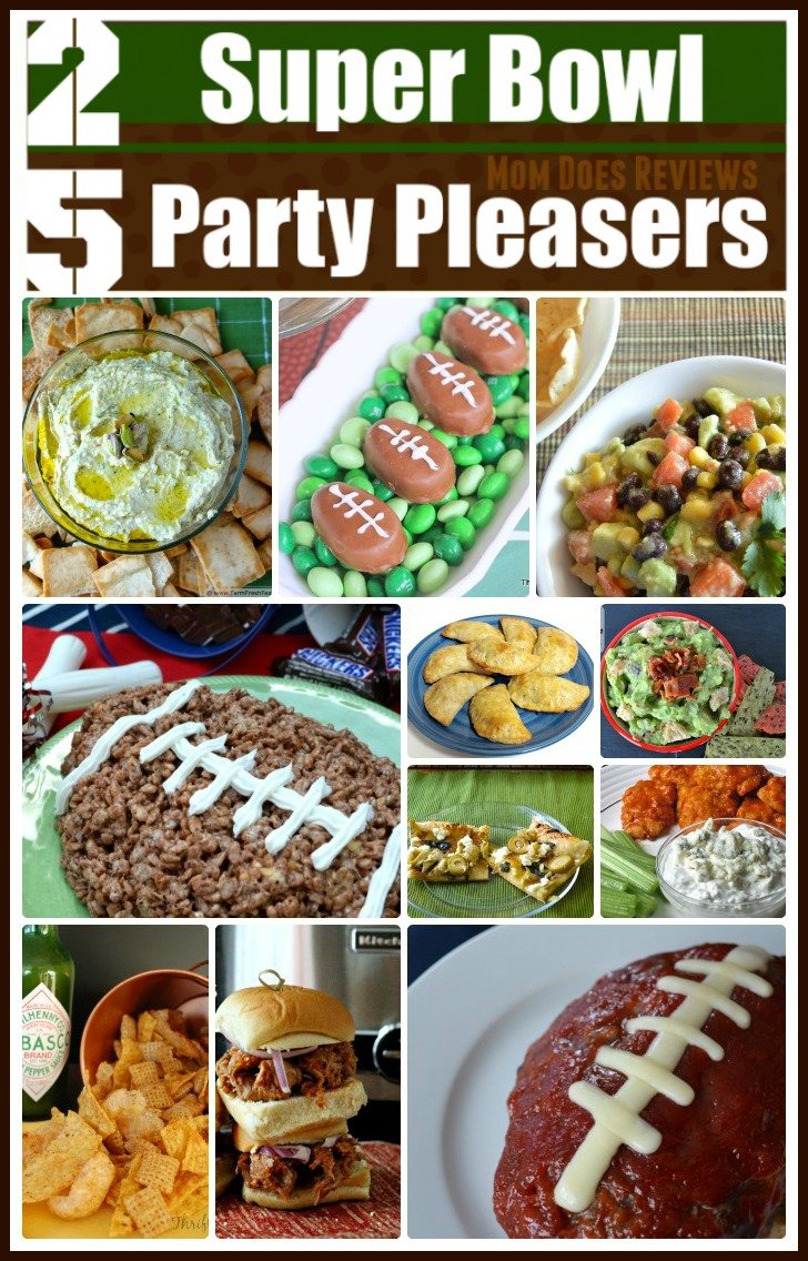 25 Super Bowl Party Pleasers #Recipes #MomDoesReviews