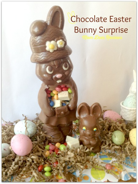 Chocolate Easter Bunny Surprise Reveal Easter Bunny Basket Ideas #MomDoesReviews