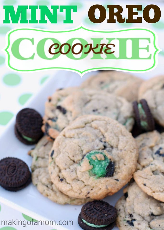 mint oreo cookie in cookie
