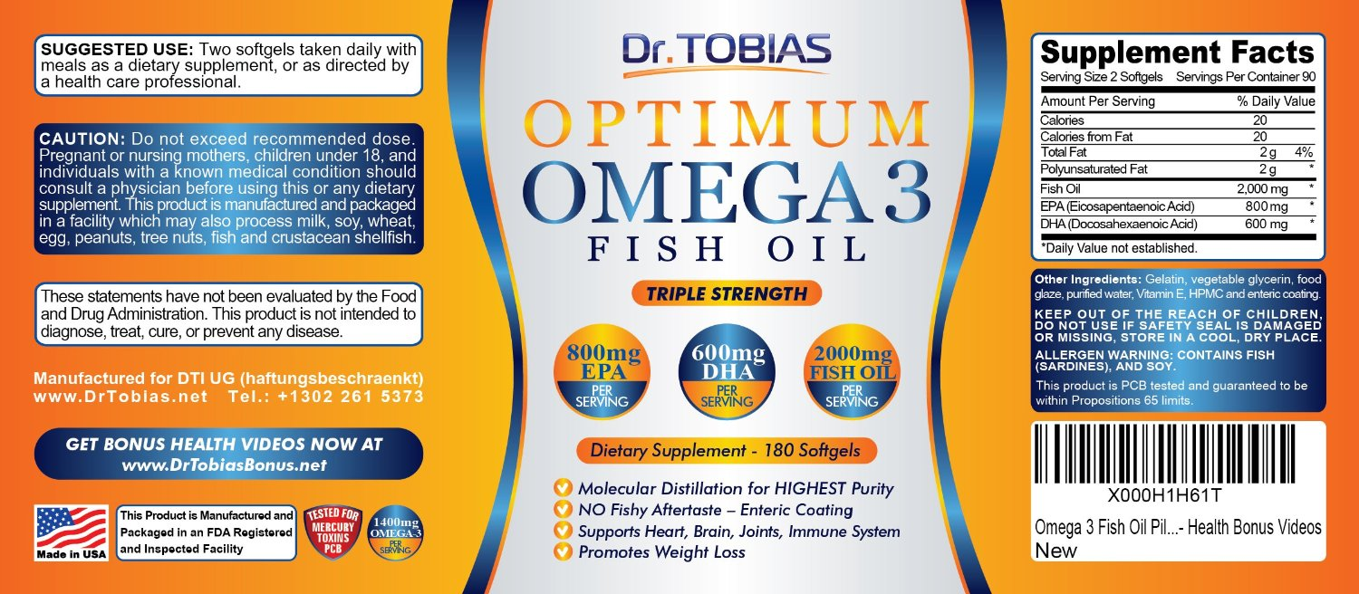 Dr Tobias' Optimum Omega-3 Fish Oil pills & #Win an iWatch!! ends 4/19