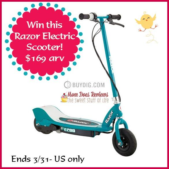 razor buydig scooter giveaway