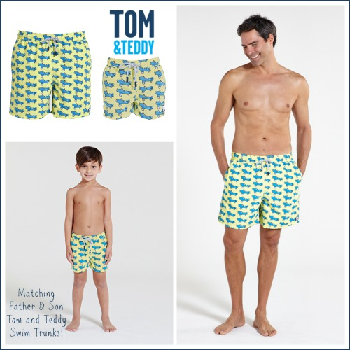 6ecfb1dcc7 Win Tom & Teddy Matching Father & Son Swim Trunks ~ US/Can Ends 5/5 ...