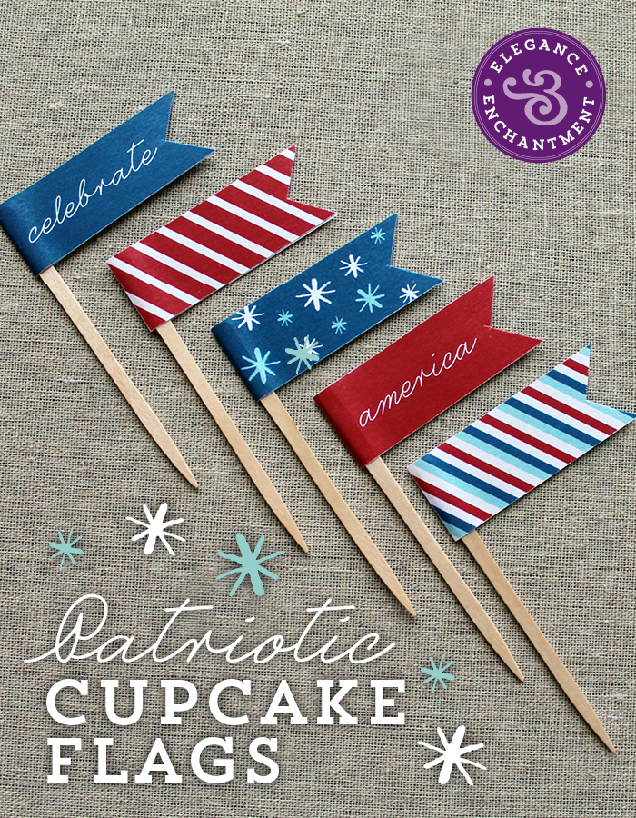Cupcake Flags from http://www.eleganceandenchantment.com