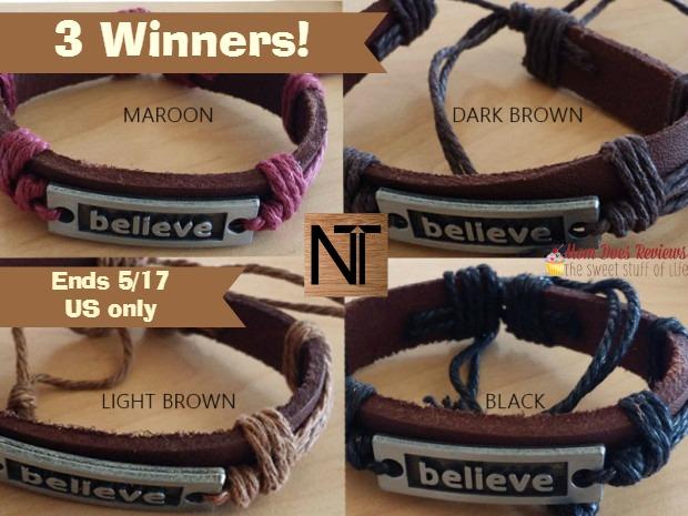 believe bracelets giveaway