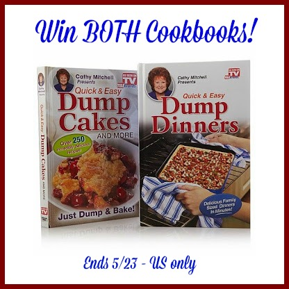 Win As Seen on TV- Dump Dinners/Cakes Recipe Books