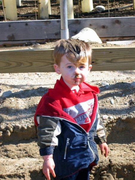 justin in mud
