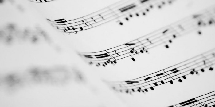music on page