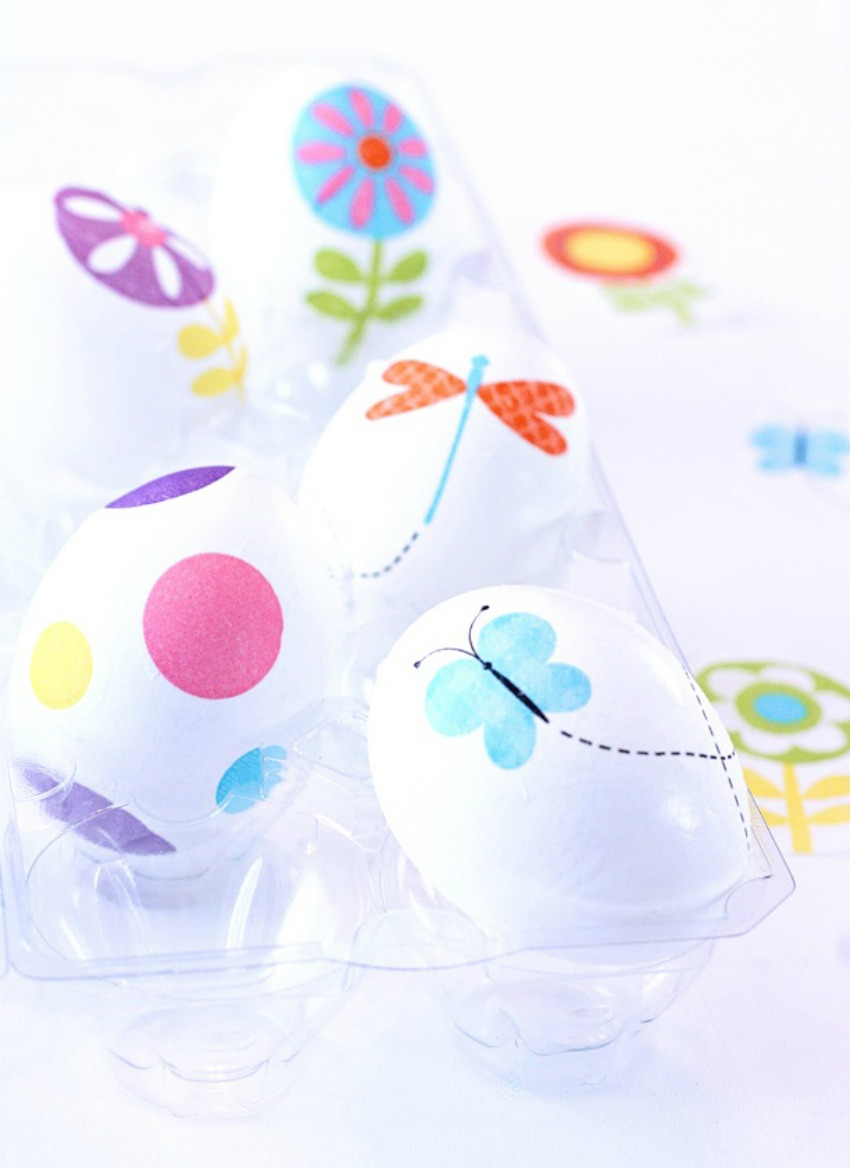 Decorate Easter Eggs with Paper Napkins Video Tutorial