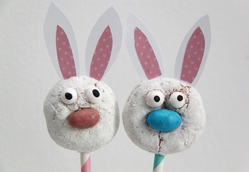 Easter Bunny Donut Pops