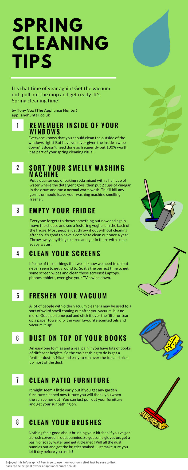 kick start your spring cleaning with this spring cleaning infographic