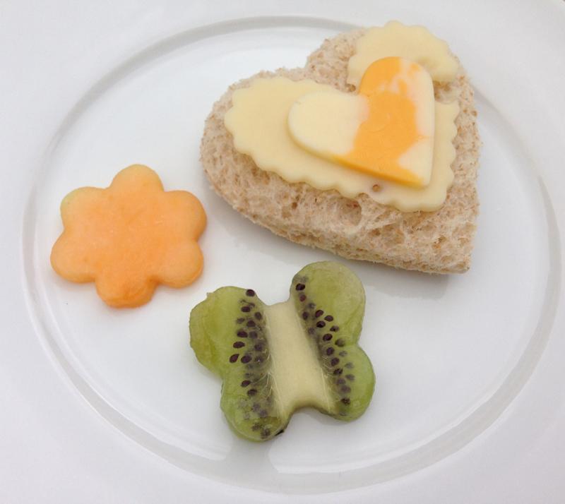 Cheese Heart Shaped Sandwich