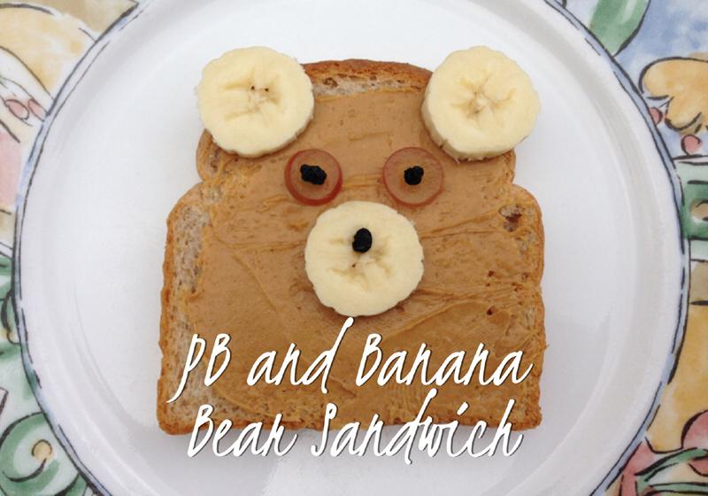 Peanut Butter Bear sandwich