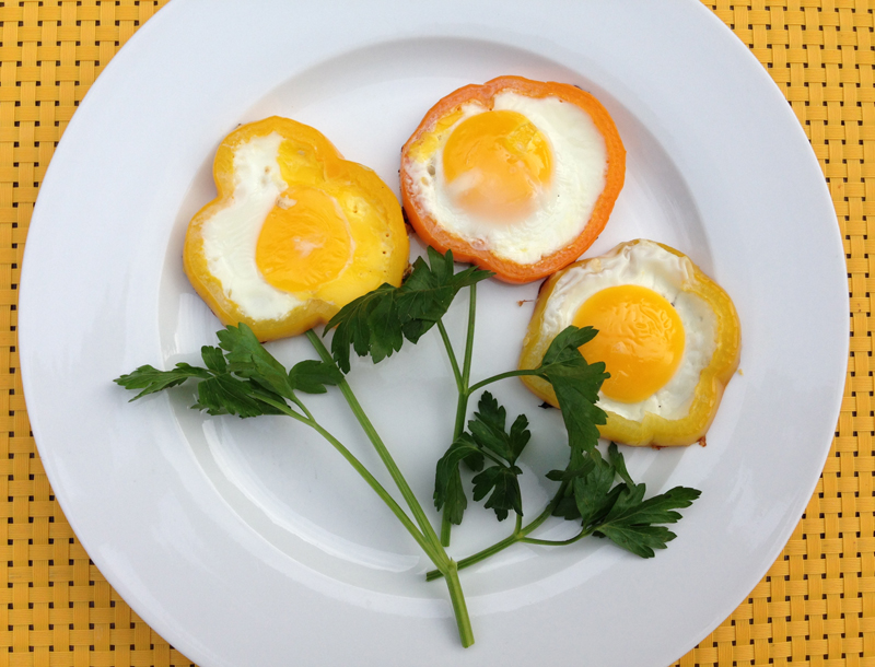 Flower Pepper Eggs