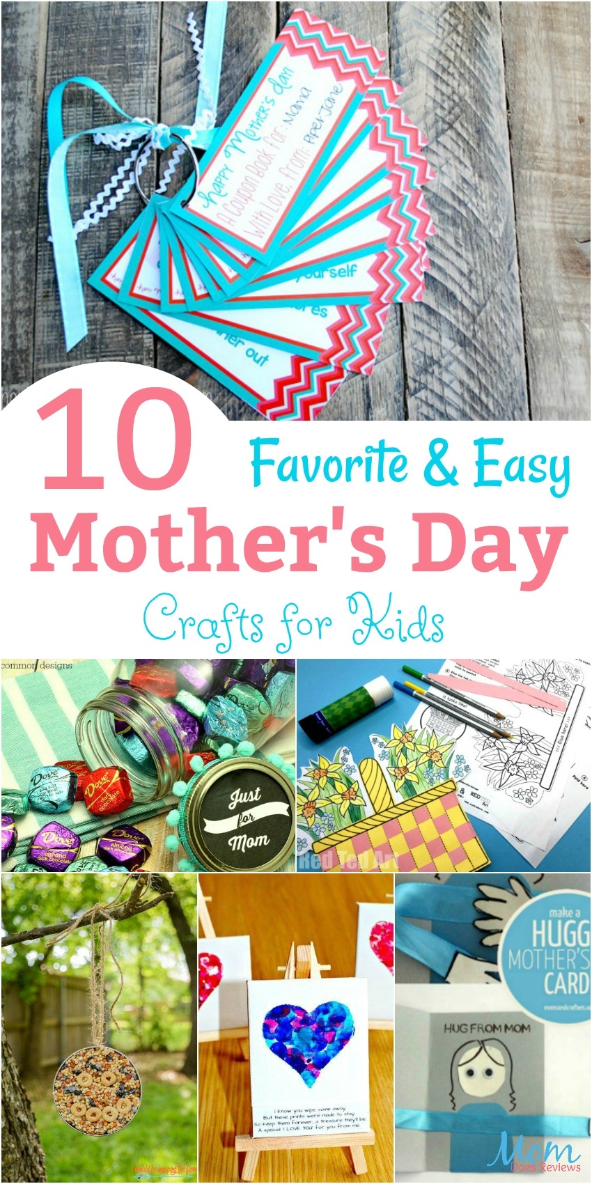 10 Favorite and Easy Mother's Day Crafts for Kids banner