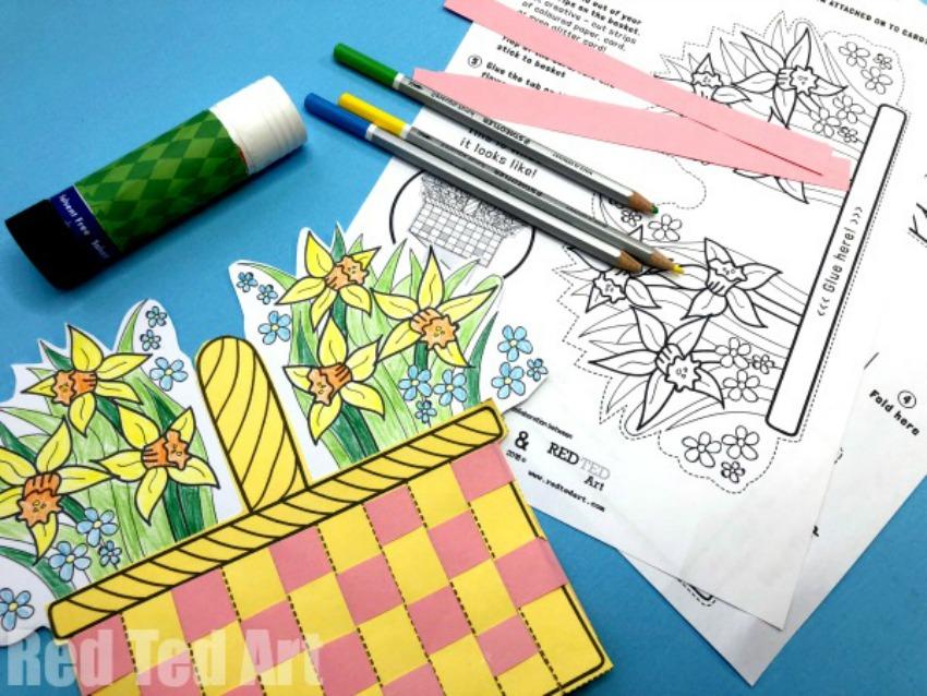 Flower Basket Paper Weaving