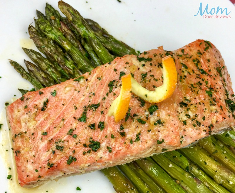 Orange-Glazed Salmon with Asparagus