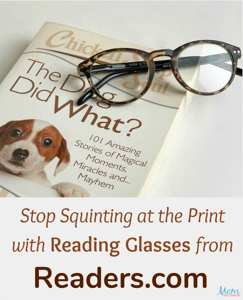 Stop Squinting at the Print with Reading Glasses from Readers dot com