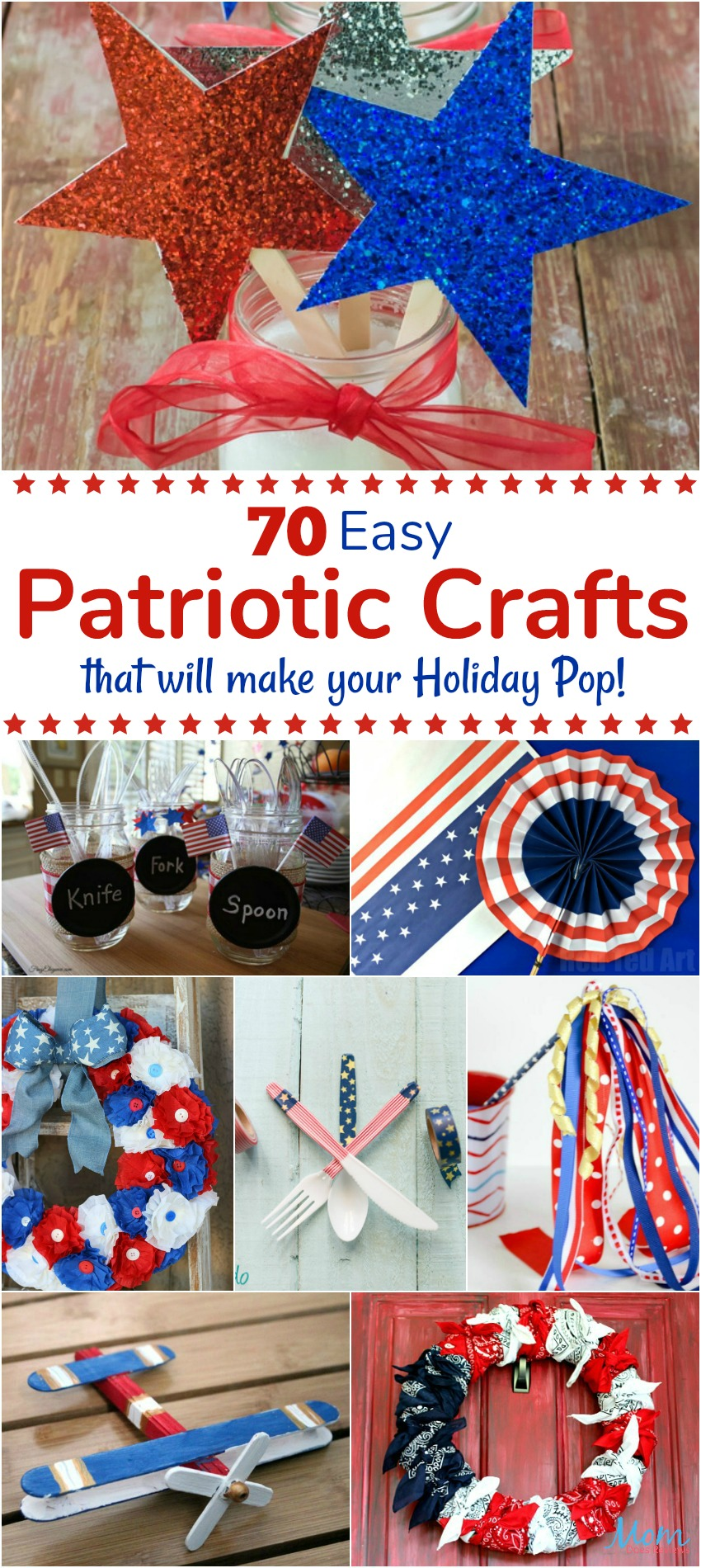 70 Easy Patriotic Crafts that will make your Holiday Pop