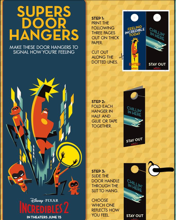 Incredibles 2 Door Hangers