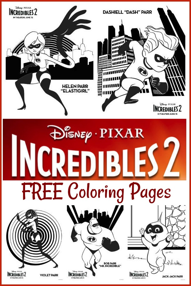Incredibles 2 Coloring Pages #Incredibles2