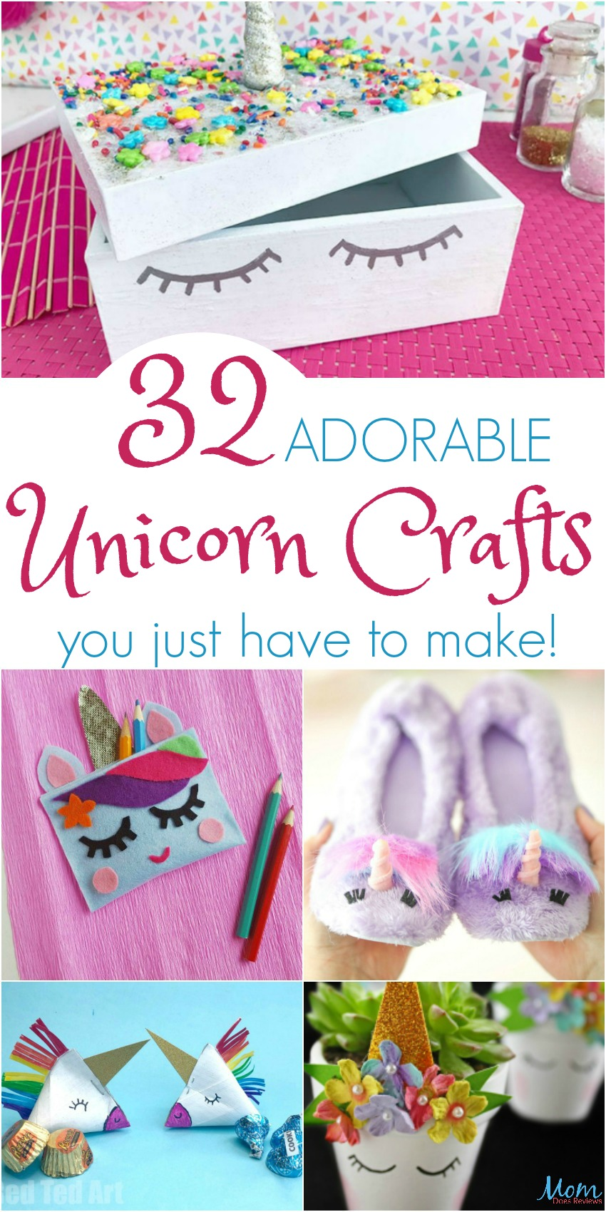 32 ADORABLE Unicorn Crafts you just have to make!