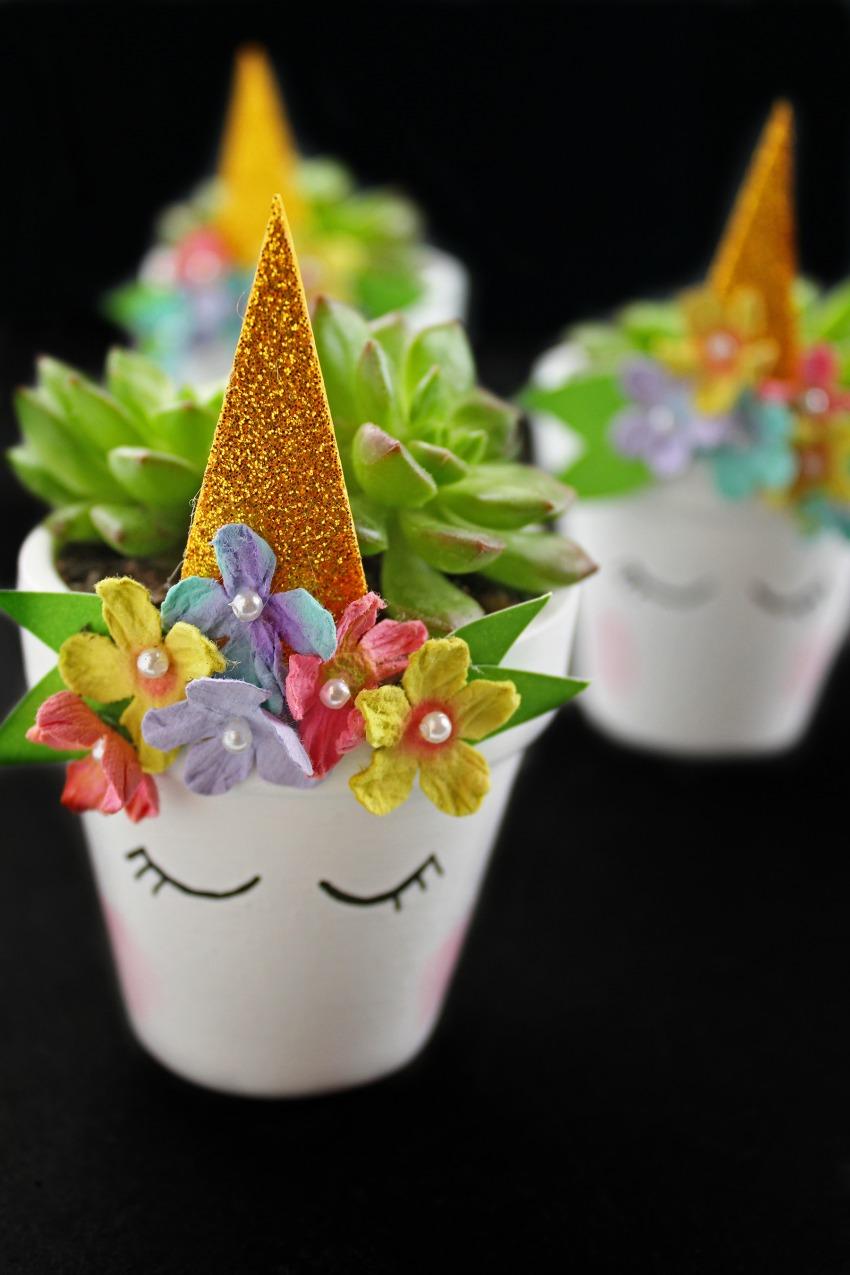 DIY Magical Unicorn Succulent Plant Pot