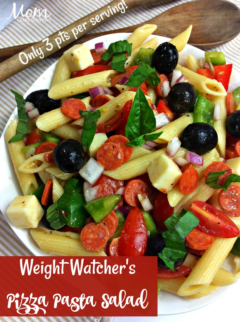 Weight Watcher's Pizza Pasta Salad #recipe #weightwatchers