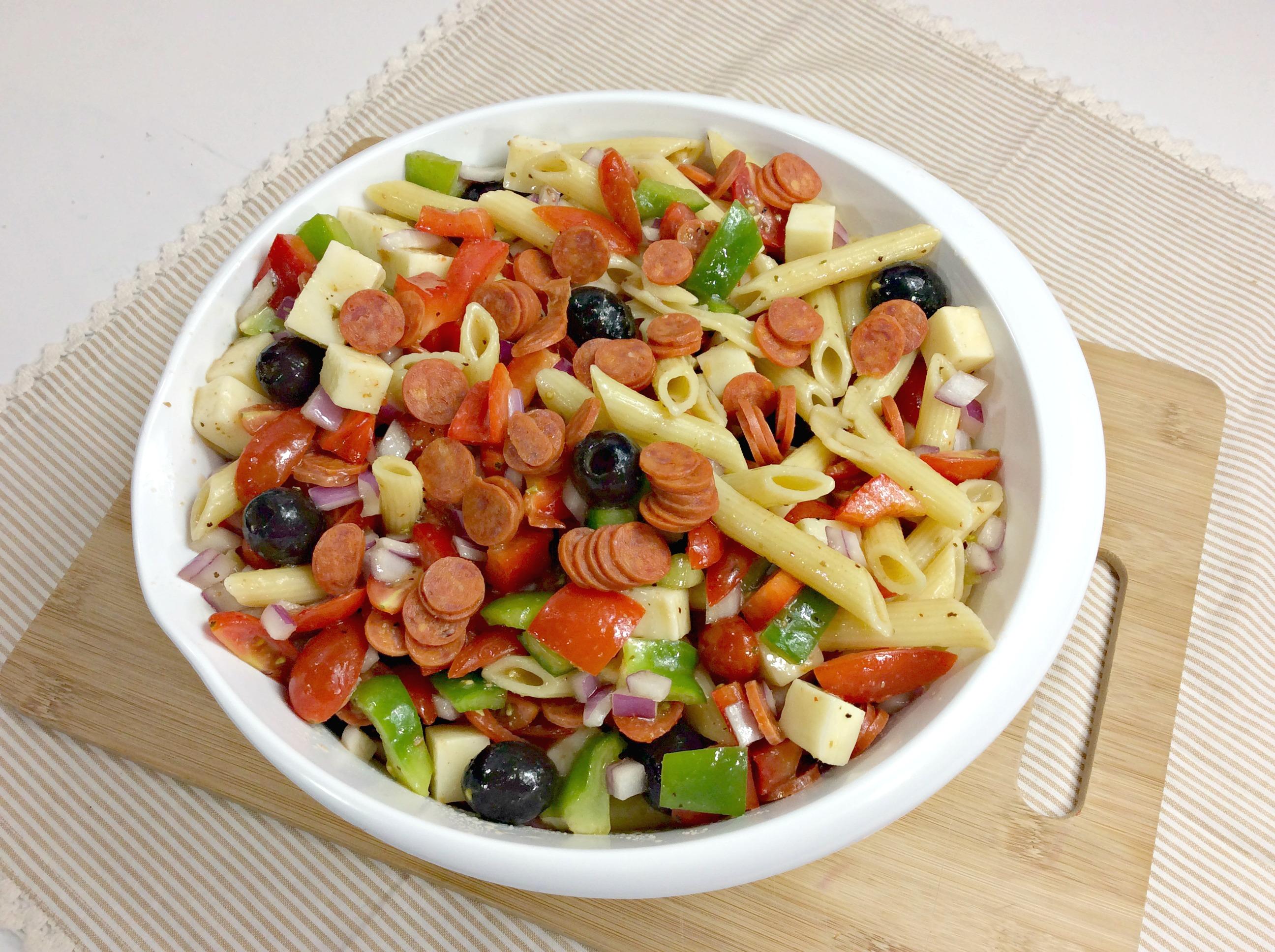 Weight Watcher's Pizza Pasta Salad