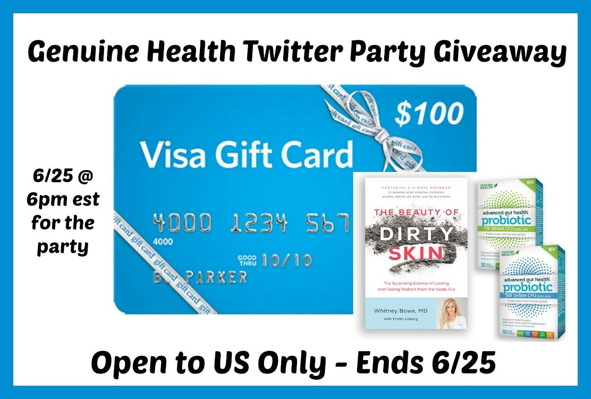 $100 Visa Gift Card From Genuine Health Giveaway Open To US Only – Ends 6/25