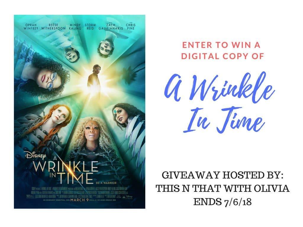 Win A Wrinkle In Time Digital Copy Us Ends 7 6 Wrinkleintime