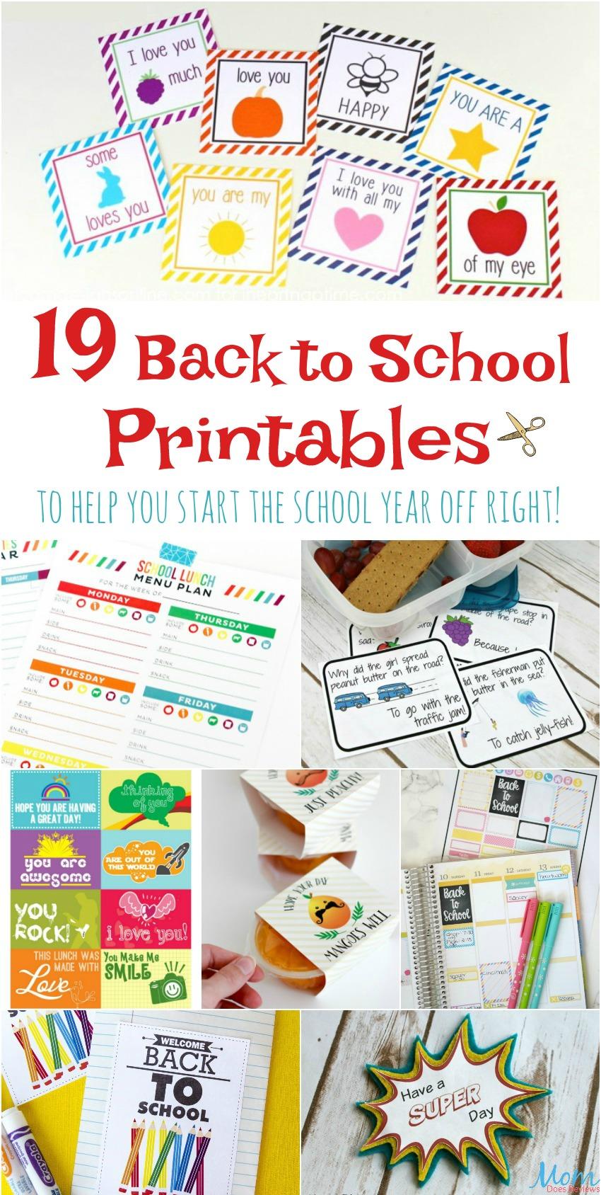 19 Back to School Printables to Help You Start the School Year Off Right