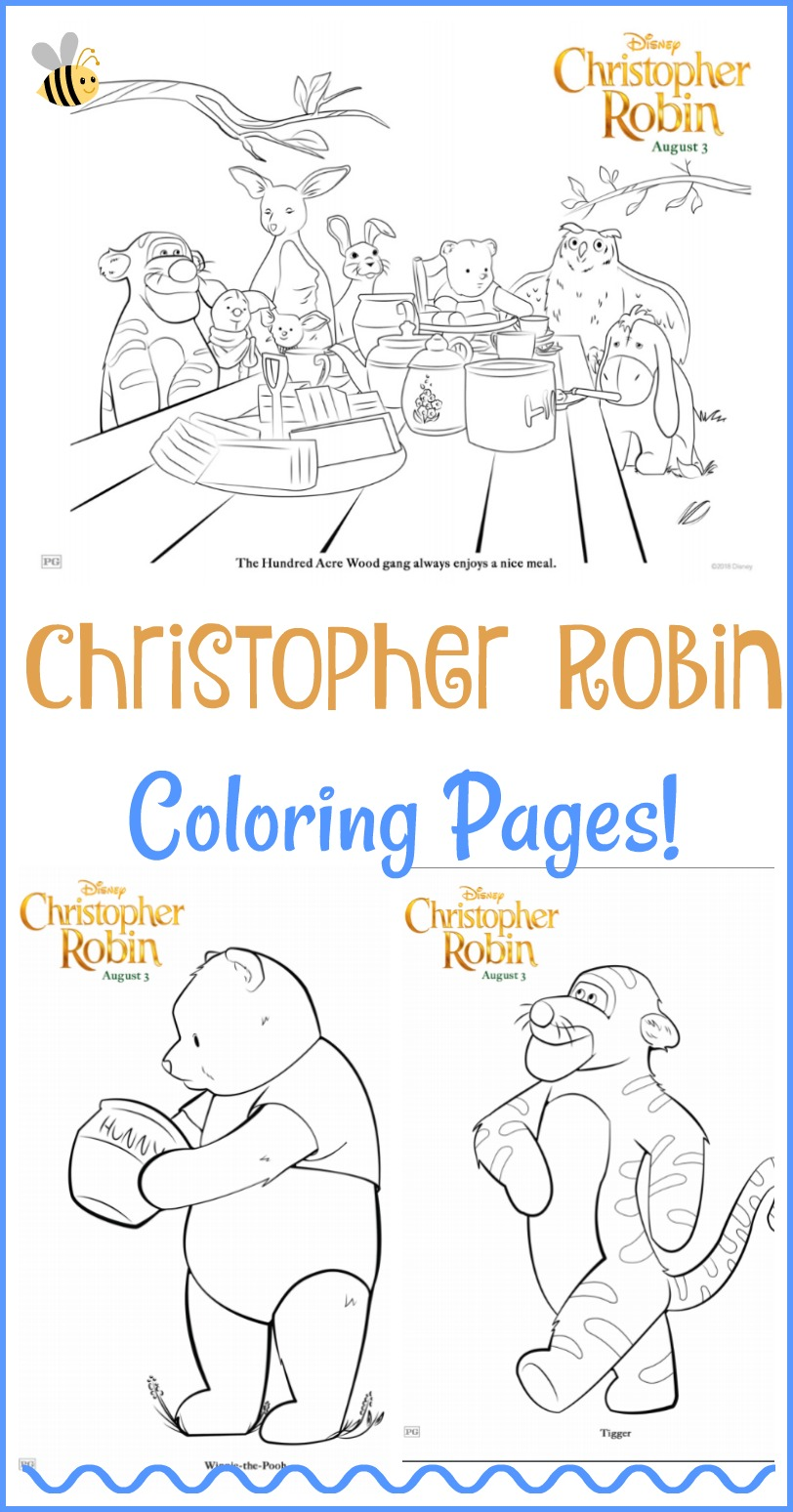 Christopher Robin Coloring Pages