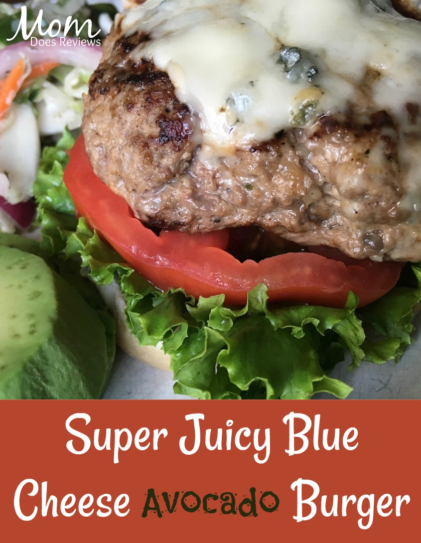 Super Juicy Grilled Burgers with Blue Cheese and Avocado