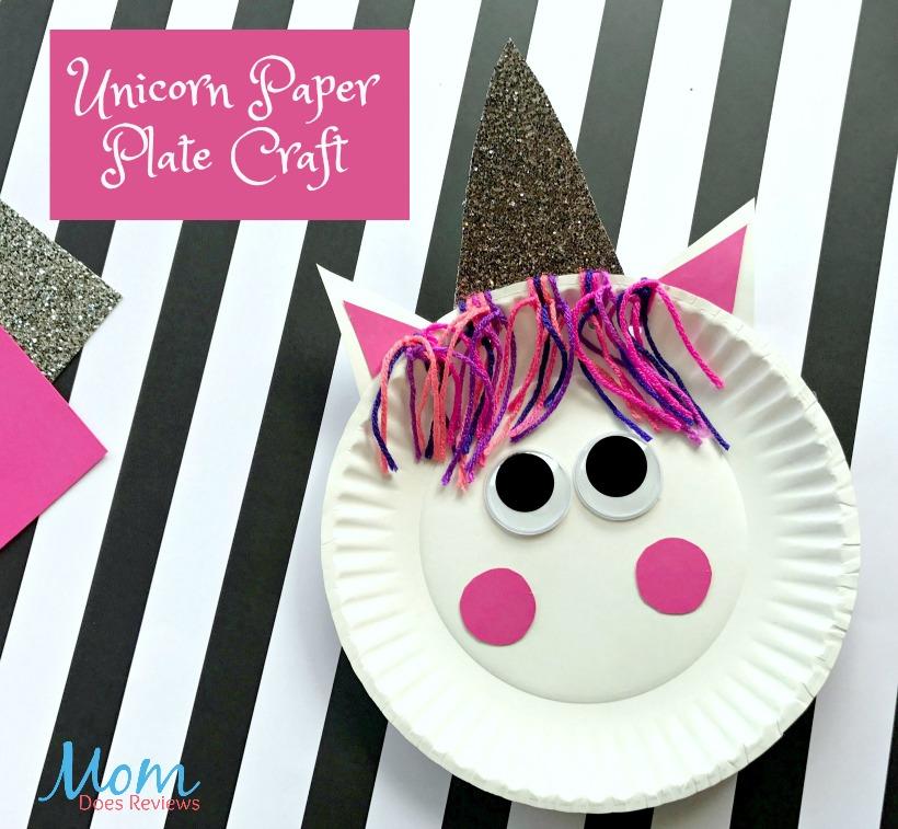 Unicorn Paper Plate Craft