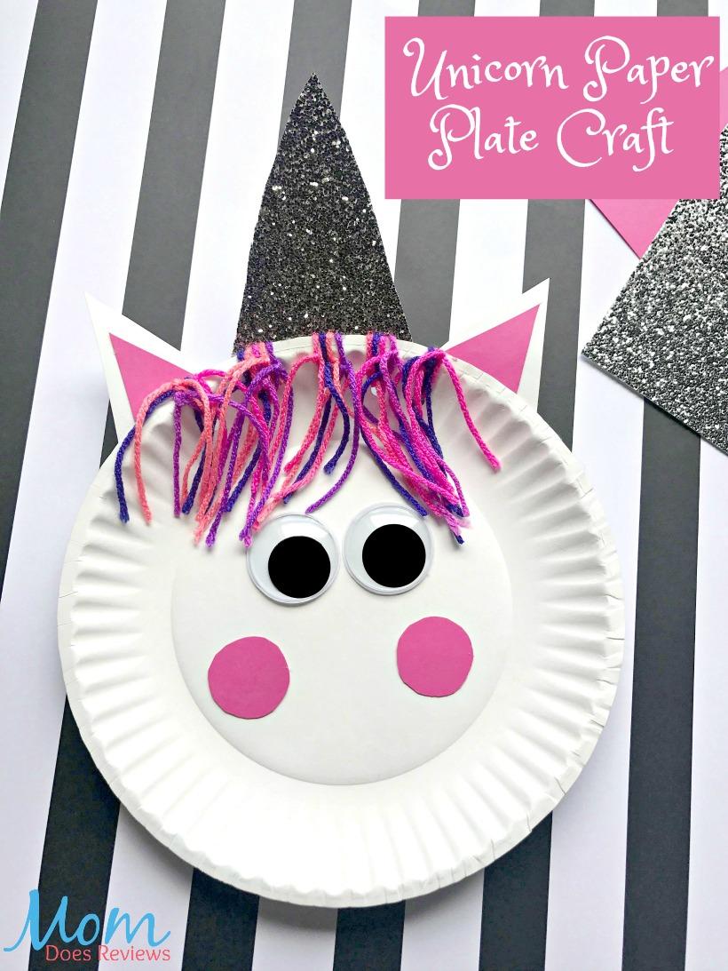 Unicorn paper Plate Craft #unicorns #craft #craftsforkids #funstuff
