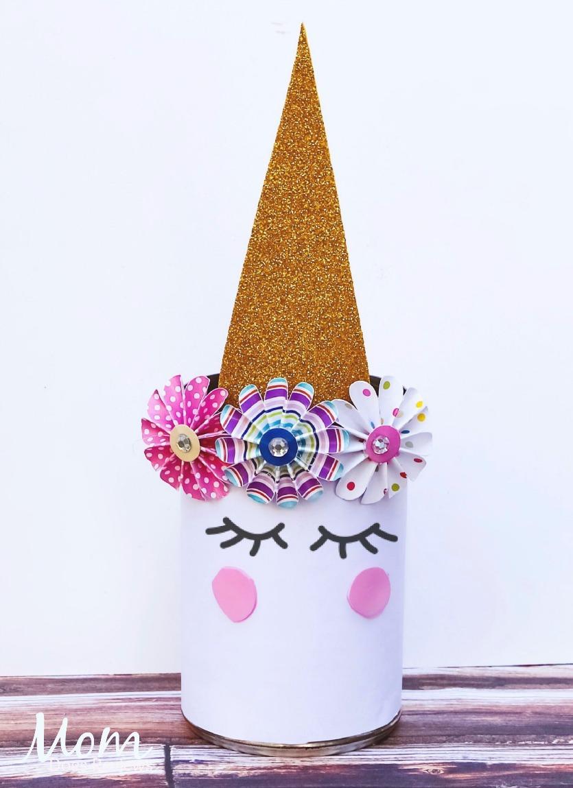 Magical Unicorn Pen Holder #unicorn #craft #back2school18